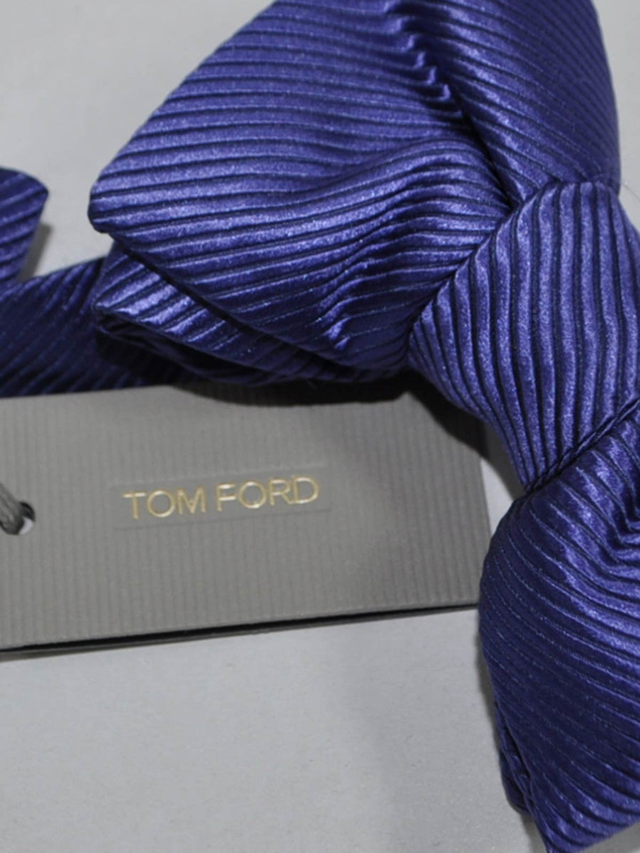 Tom Ford Silk Bow Tie Purple Grosgrain Design