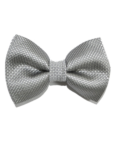 Tom Ford Silk Bow Tie Gray Silver