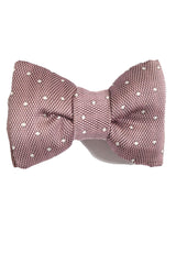 Tom Ford Silk Bow Tie Light Pink Dots