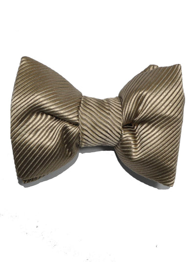 Tom Ford Silk Bow Tie Gold Grosgrain