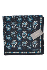 Tom Ford Pocket Square Turquoise Geometric Flowers