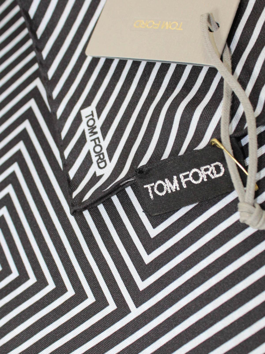 Tom Ford Pocket Square Geometric Striped T
