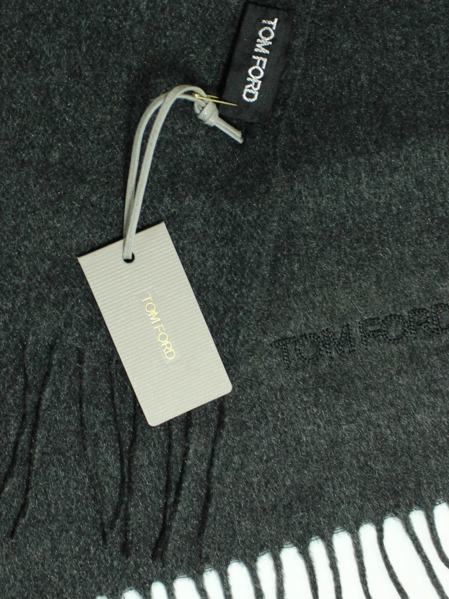 Tom Ford Cashmere Scarf Charcoal Gray