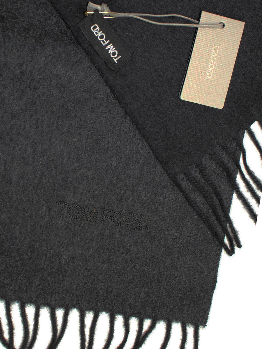 Tom Ford Cashmere Scarf Solid Charcoal Gray