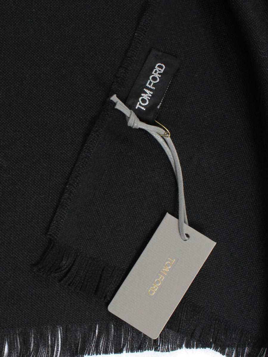 Tom Ford Scarf Solid Black