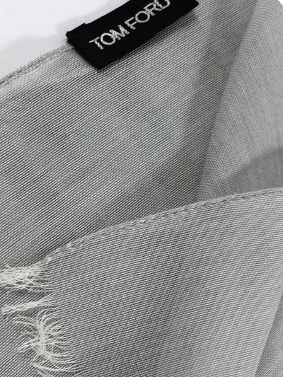 Tom Ford Scarf Light Gray Chiffon