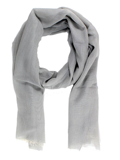 Tom Ford Scarf Light Gray Chiffon Silk Shawl SALE