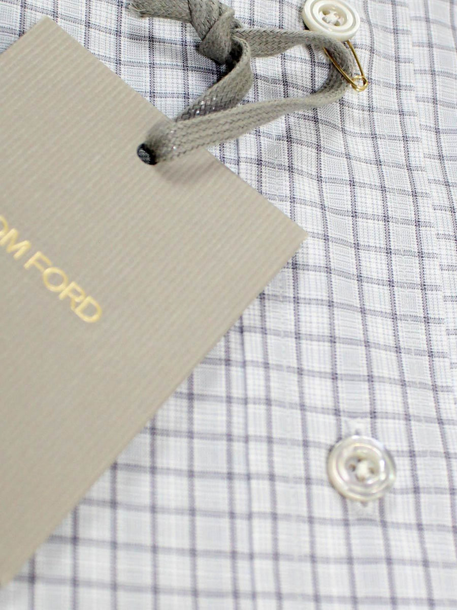 Tom Ford Dress Shirt Gray Check