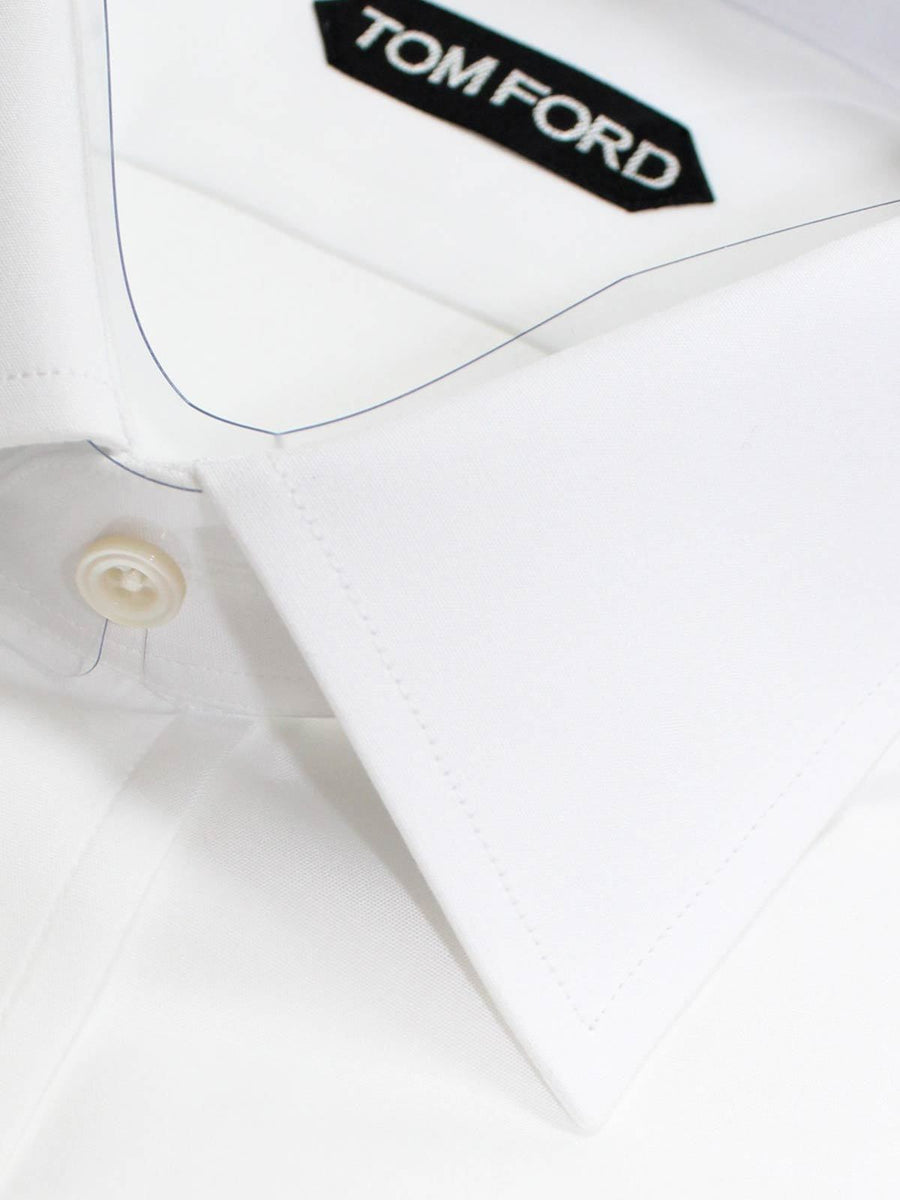 Tom Ford Dress Shirt Solid White  New