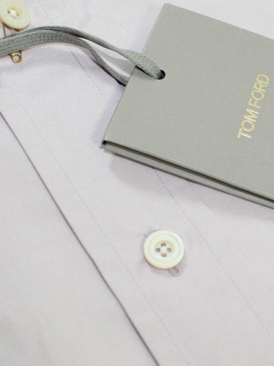 Tom Ford Dress Shirt Mauve Pink Cotton Silk 39 - 15 1/2 Slim Fit