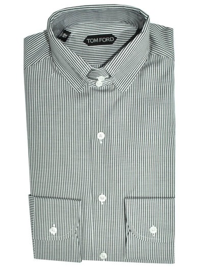 Tom Ford Dress Shirt White Black Stripes
