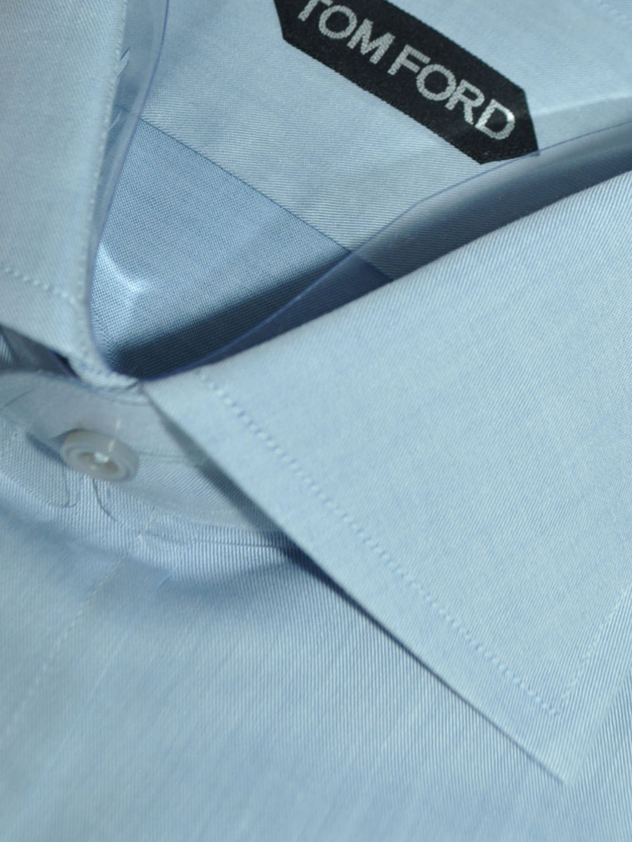 Tom Ford Dress Shirt Blue Gray 41 - 16