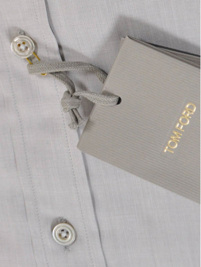 Tom Ford Dress Shirt Solid Gray 40 - 15 3/4 SALE