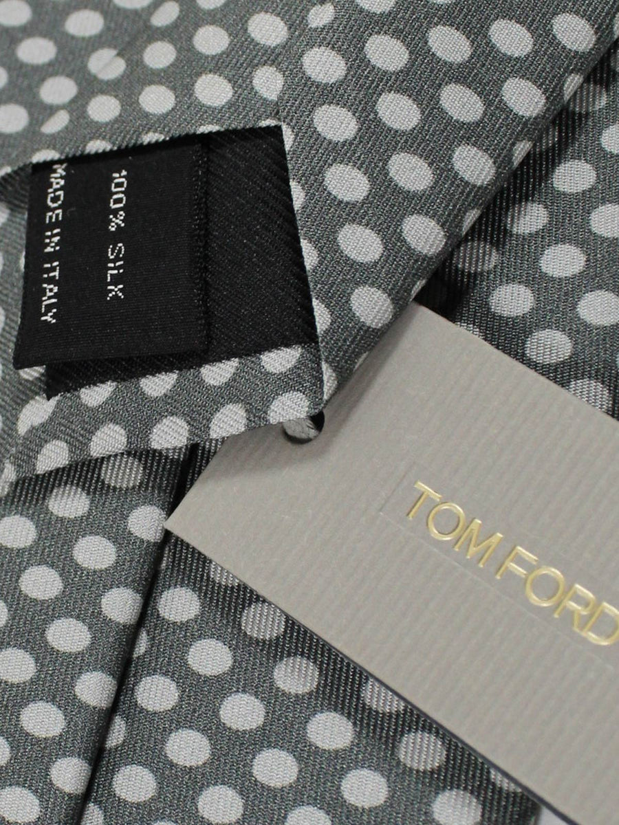 Tom Ford Silk Tie Gray Dots SALE