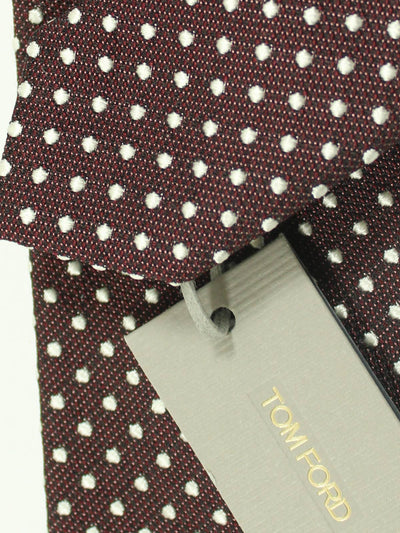 Tom Ford Tie Brown Silver Dots