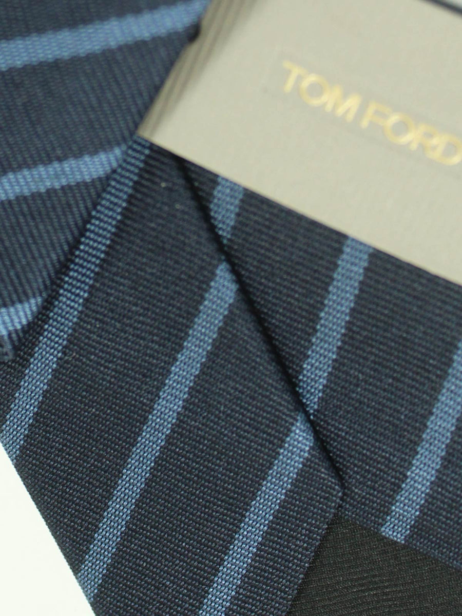 Tom Ford Tie Dark Blue Stripes Design