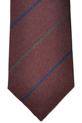 Brunello Cucinelli Tie Maroon Stripes