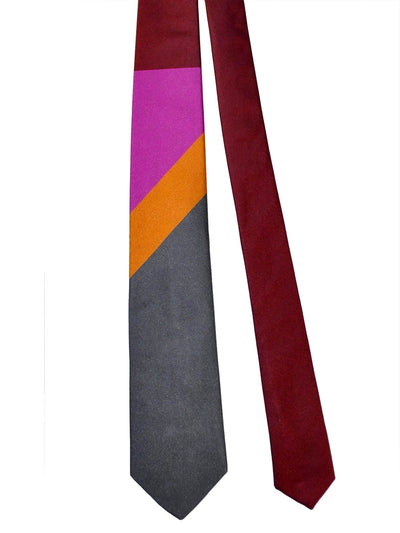 Luigi Borrelli Sevenfold Tie ROYAL COLLECTION Orange Tonal Stripes SALE