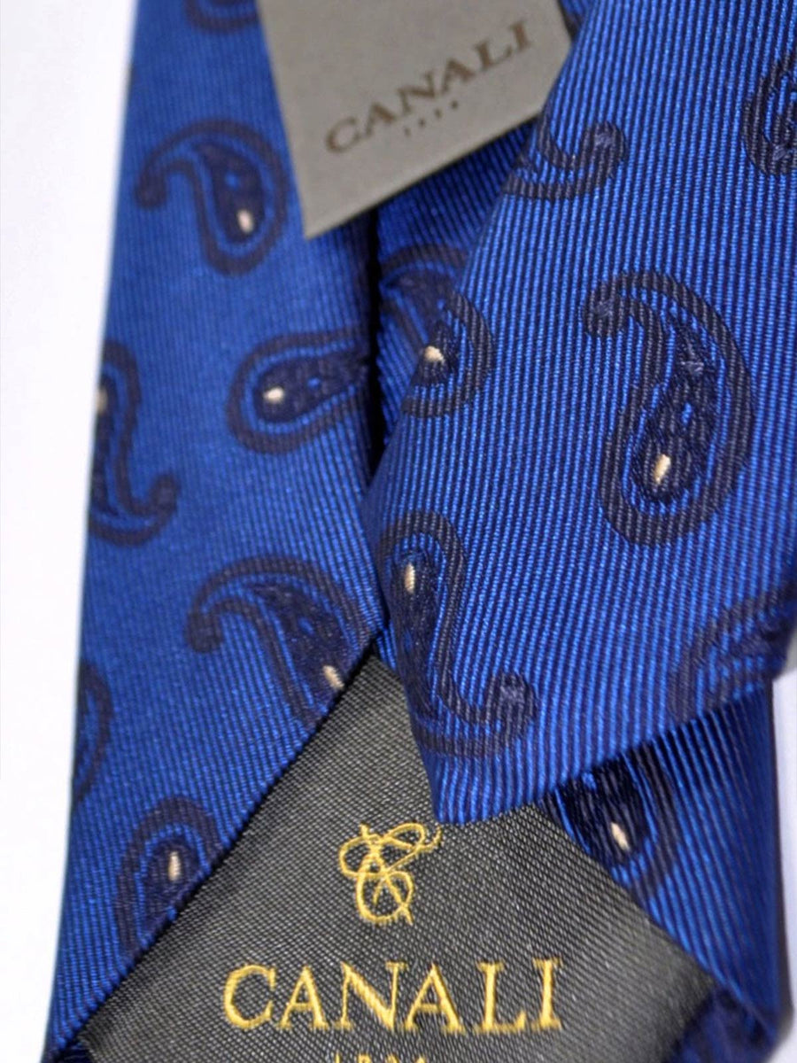 Canali Tie Navy Brown Paisley