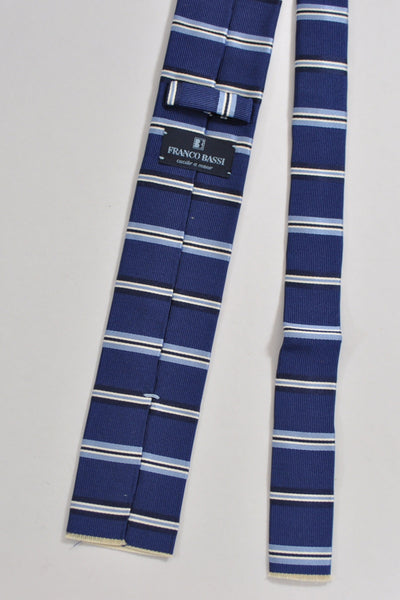 Franco Bassi Tie Navy Stripes Cotton