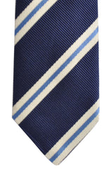 Franco Bassi Tie Navy Stripes Narrow Necktie