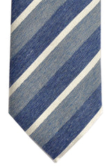 Franco Bassi Tie Blue Gray Stripes