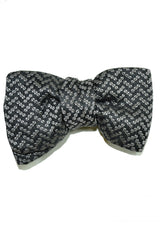 Tom Ford bow tie with gray/ black design