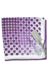 Tom Ford Pocket Square Purple White Polka Dots SALE