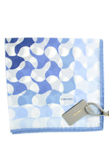 Tom Ford Pocket Square White Blue