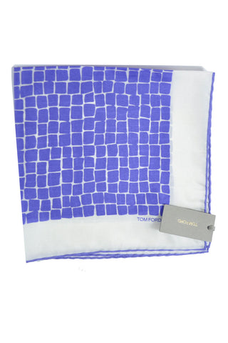 Tom Ford Pocket Square Purple White