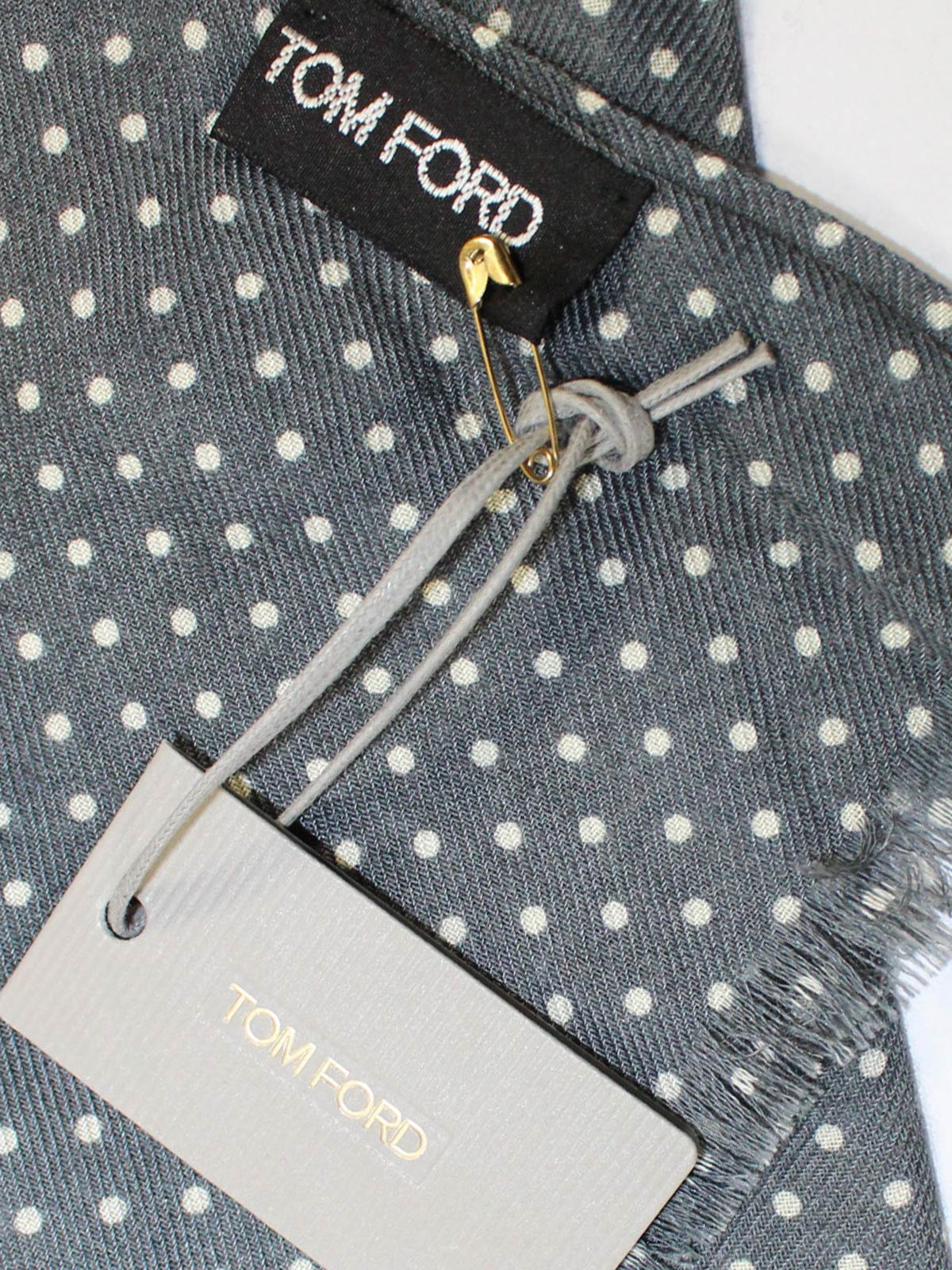 Tom Ford Scarf Gray Dots