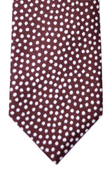 Tom Ford Narrow Tie Brown White Dots