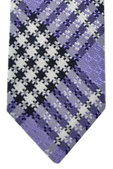 Tom Ford Tie Purple Silver Plaid