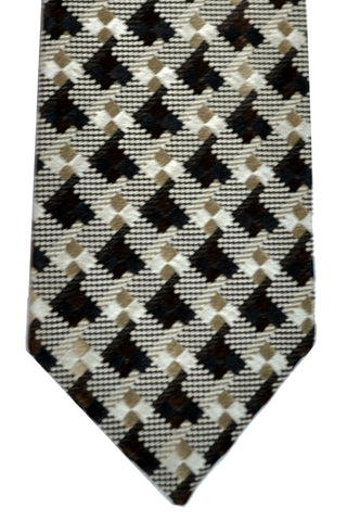 Tom Ford Tie Brown Taupe-Gold Silver FINAL SALE
