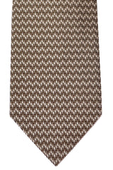 Tom Ford Tie Taupe Silver