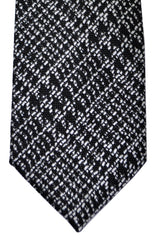Tom Ford Tie Black Silver Jacquard Silk Necktie