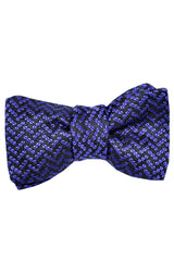 Tom Ford Silk Bow Tie Purple Black