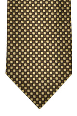 Tom Ford Necktie Chocolate Brown Cream Geometric