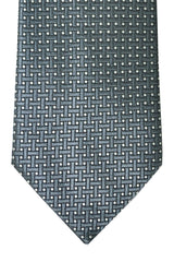 Tom Ford Tie Gray Silver Black Geometric Design