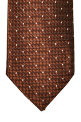 Tom Ford Tie Brown Silver Dots Design