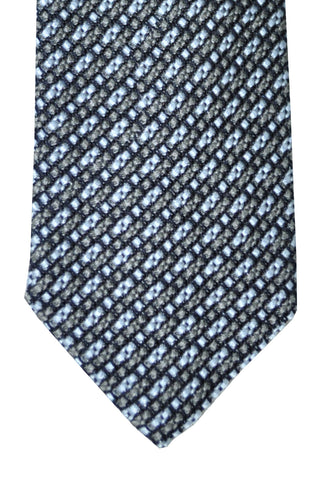 Tom Ford Tie Metallic Gray Charcoal Black Stripes SALE