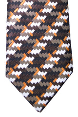 Tom Ford Tie Brown Copper White Stripes