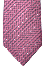 Tom Ford Tie Salmon Silver Black Stripes