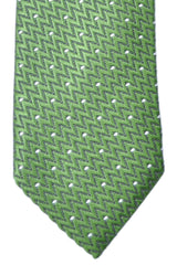 Tom Ford Tie Green Black Silver