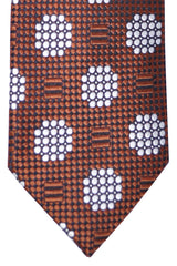 Tom Ford Tie Brown White