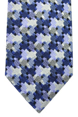Tom Ford Tie Lilac Navy Silver