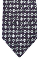 Tom Ford Tie Dark Brown Silver Black