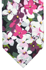 Tom Ford Tie Fuchsia Pink White Plum Floral