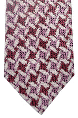 Tom Ford Tie Pink Plum Silver Silk