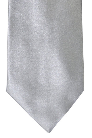 Tom Ford Tie Silver Gray Solid